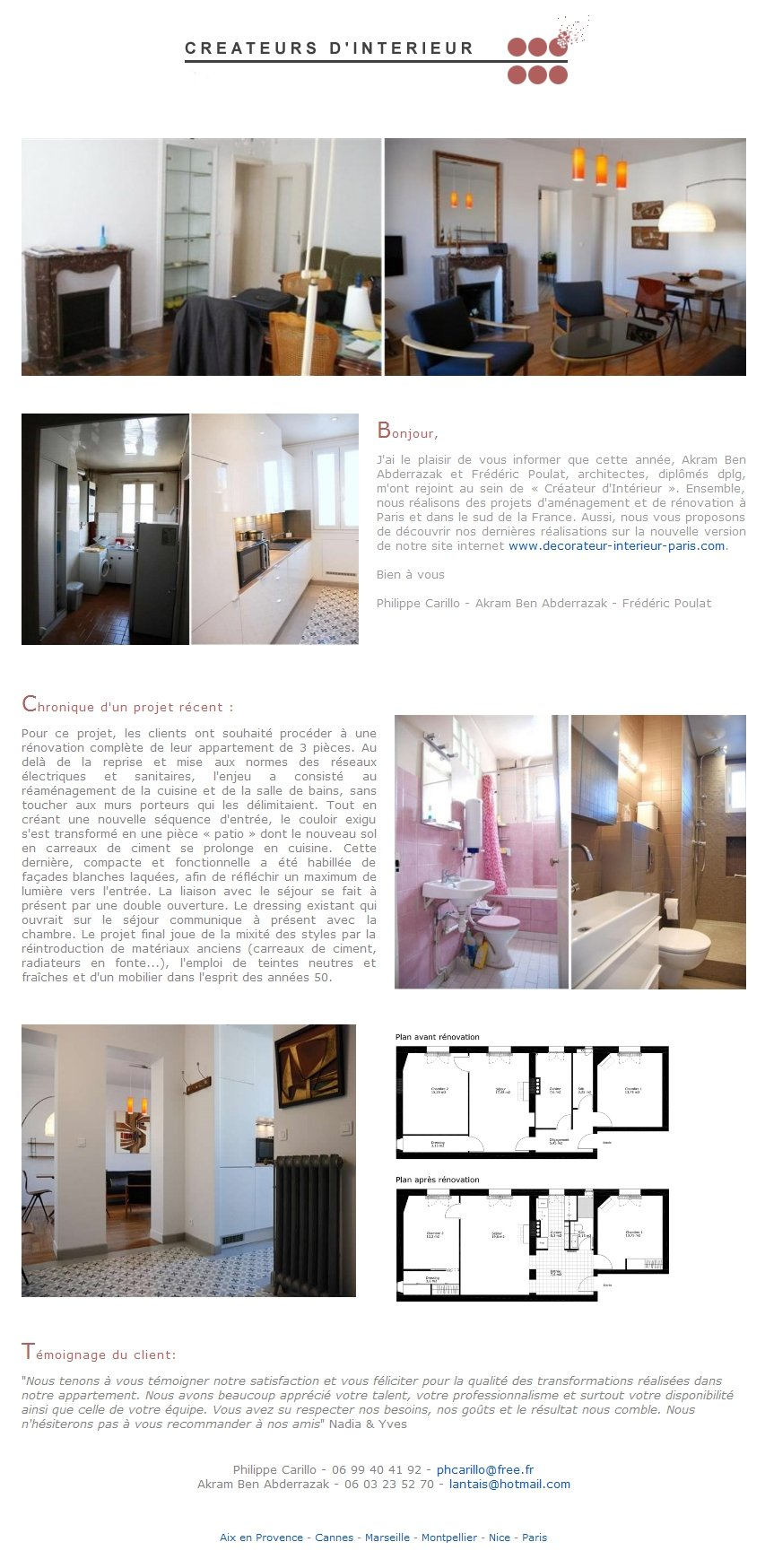 newsletter cr ateurs d 39 int rieur bordeaux. Black Bedroom Furniture Sets. Home Design Ideas