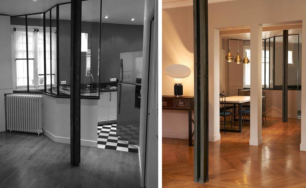 avant apr s r novation d 39 un appartement haussmannien paris. Black Bedroom Furniture Sets. Home Design Ideas