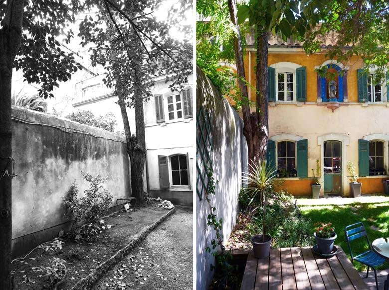 Am nagement d 39 un jardin d 39 une maison de ville par un jardinier paysagiste bordeaux - Maison de ville bordeaux ...