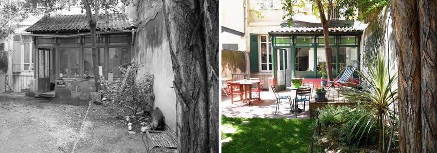 am nagement d 39 un jardin d 39 une maison de ville par un jardinier paysagiste bordeaux. Black Bedroom Furniture Sets. Home Design Ideas