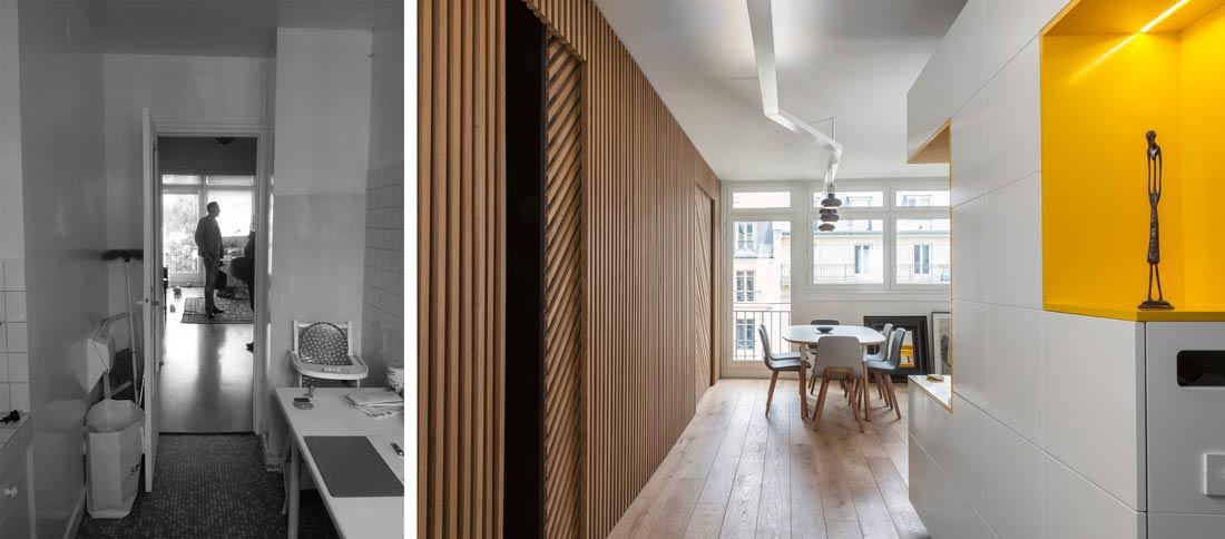 R novation d 39 une appartement 3 pi ces par un architecte d 39 int rieur bordeaux for Amenagement entree maison interieur