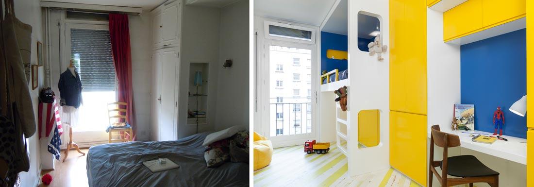 r novation d 39 une appartement 3 pi ces par un architecte d 39 int rieur bordeaux. Black Bedroom Furniture Sets. Home Design Ideas