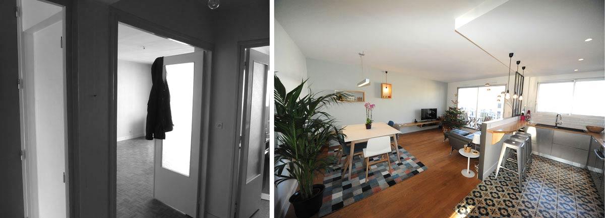 avant apr s am magement appartement 3 pi ces 62m2. Black Bedroom Furniture Sets. Home Design Ideas