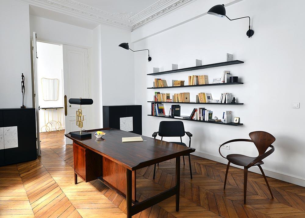 D coration d 39 int rieur appartement haussmannien 110m2 for Appartement haussmannien bordeaux