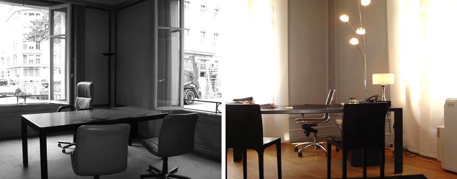 avant apr s am nagement de bureaux de 200 m2. Black Bedroom Furniture Sets. Home Design Ideas