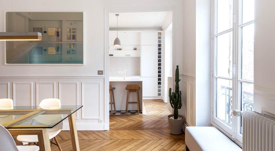 Rénovation de la salle à manger d'un appartement haussmannien