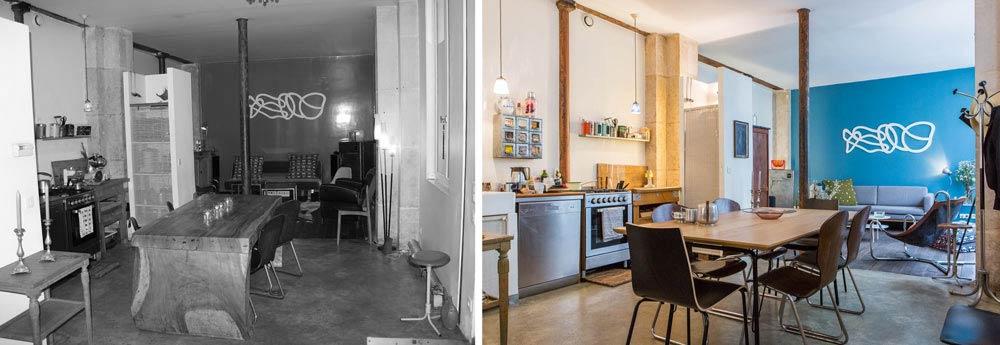 relooking d 39 un loft 62m2 bordeaux. Black Bedroom Furniture Sets. Home Design Ideas