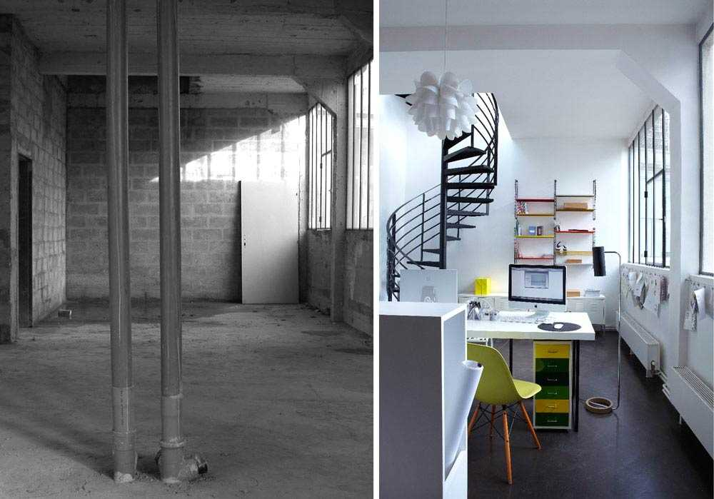 Rénovation d'un loft en bureau