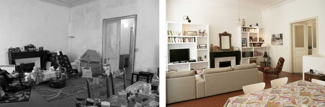 Rénovation du salon d'une maison ville