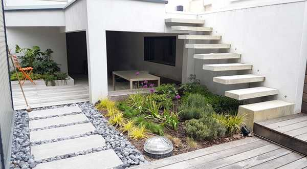 Contemporary garden for a new house