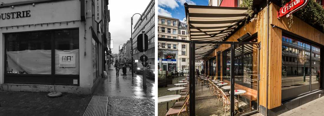 Rénovation de la facade d'un restaurant par un architecte à Bordeaux