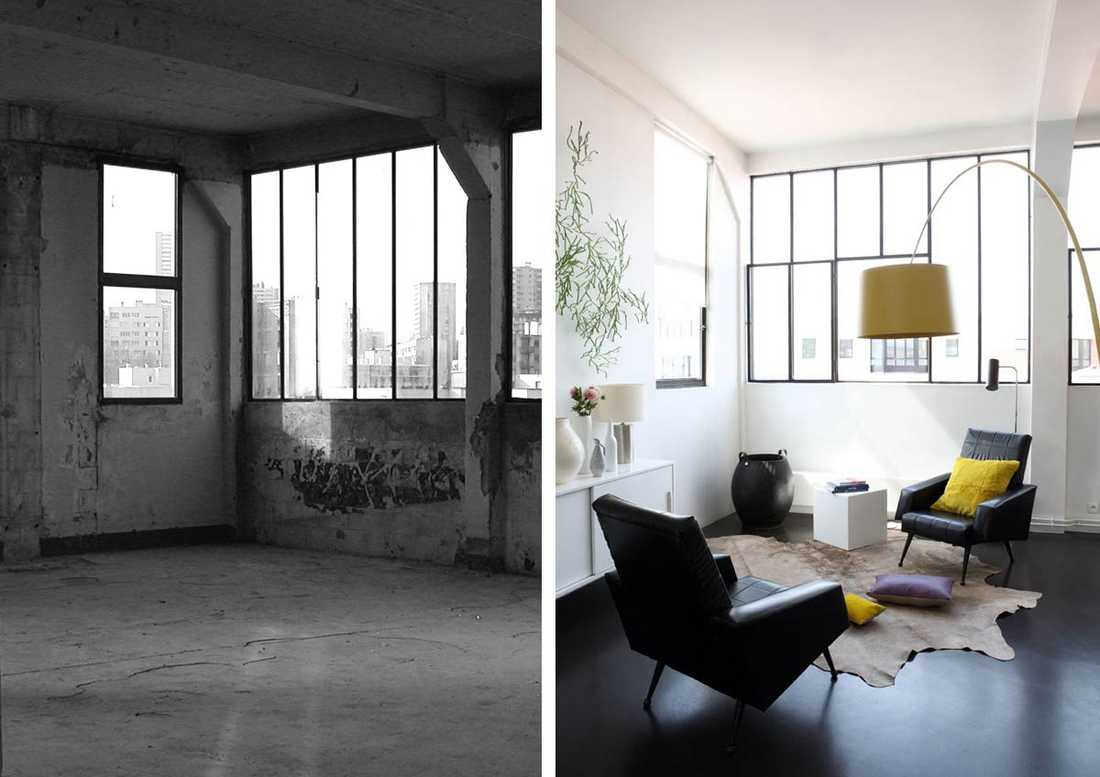Transformation d'un loft en bureau