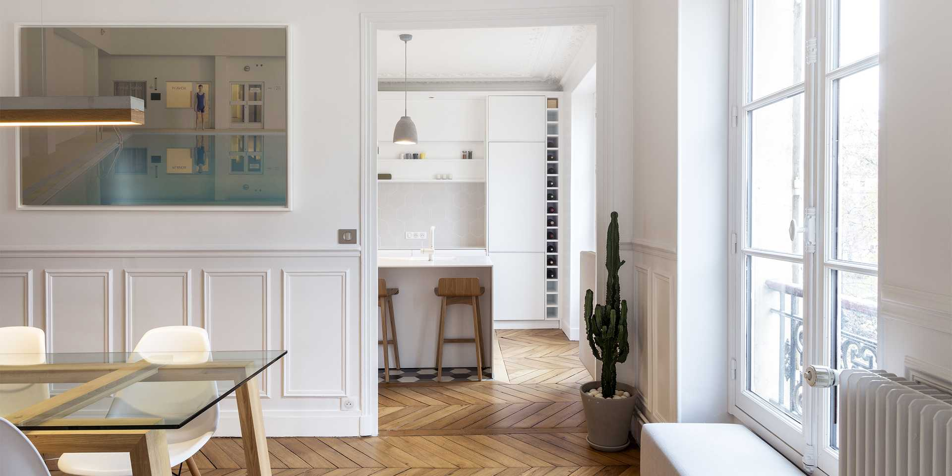 Haussmannian apartment redesigned by an architect in Bordeaux